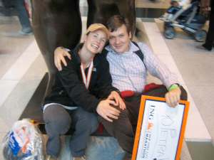 Adam and I after the marathon.